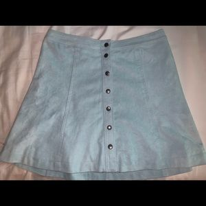 Light blue Abercrombie & Fitch button-up skirt
